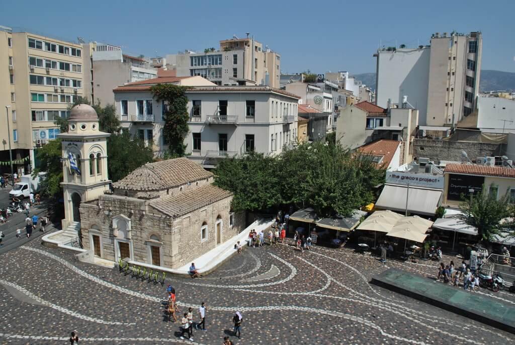 Plaza Monastiraki desde el 360º bar