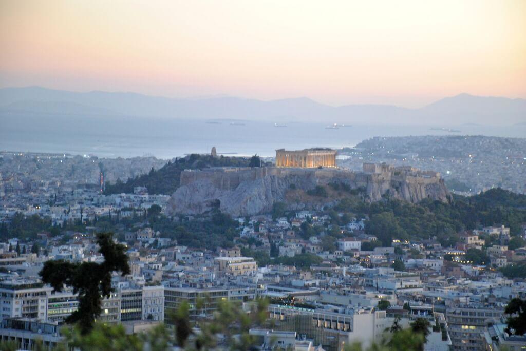 La Acrópolis desde el Monte Licabeto