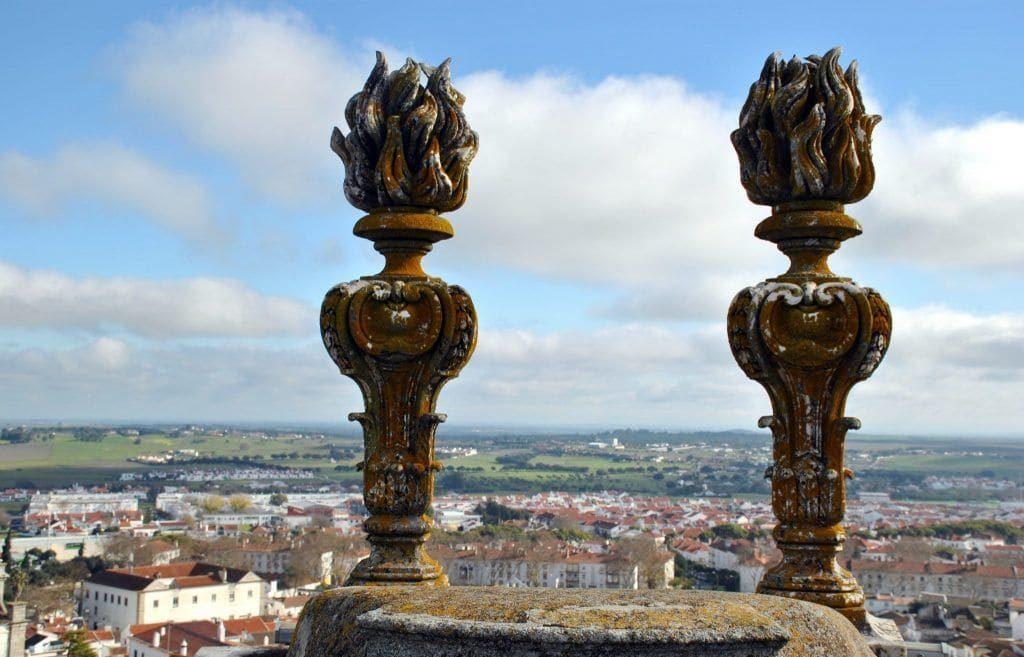 Vistas desde la azotea de la Catedral de Évora