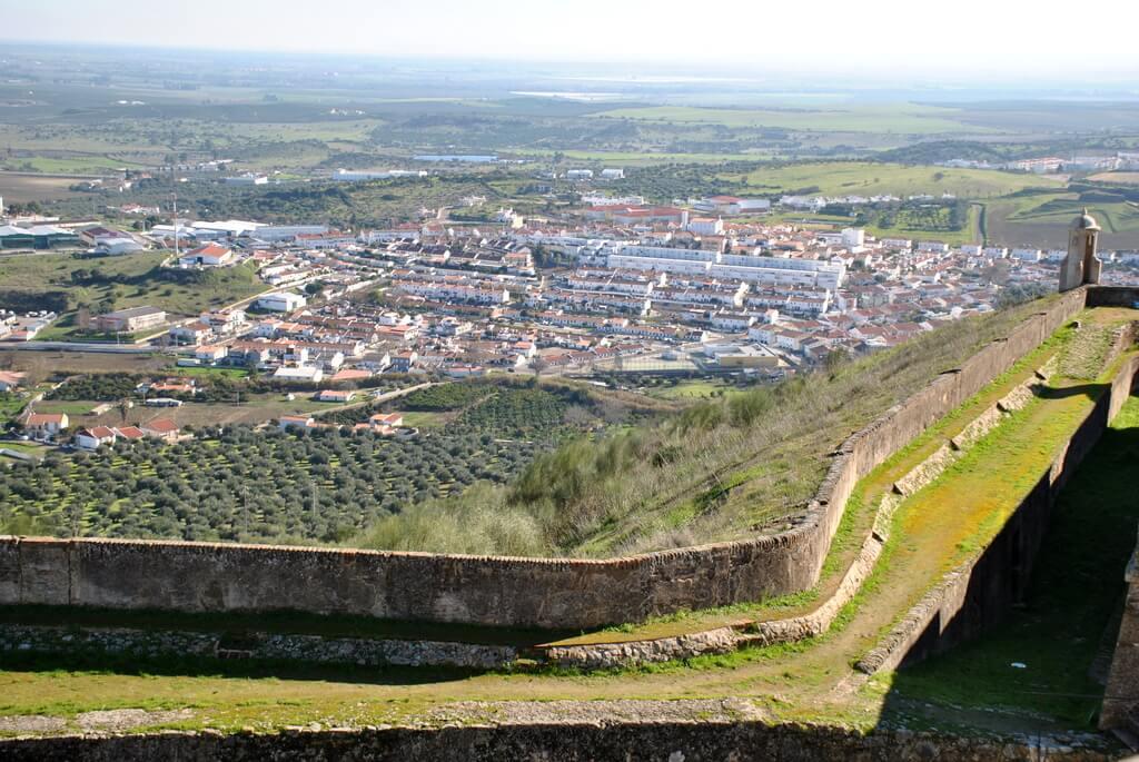 Preciosas vistas de Elvas desde el Fuerte de Graça