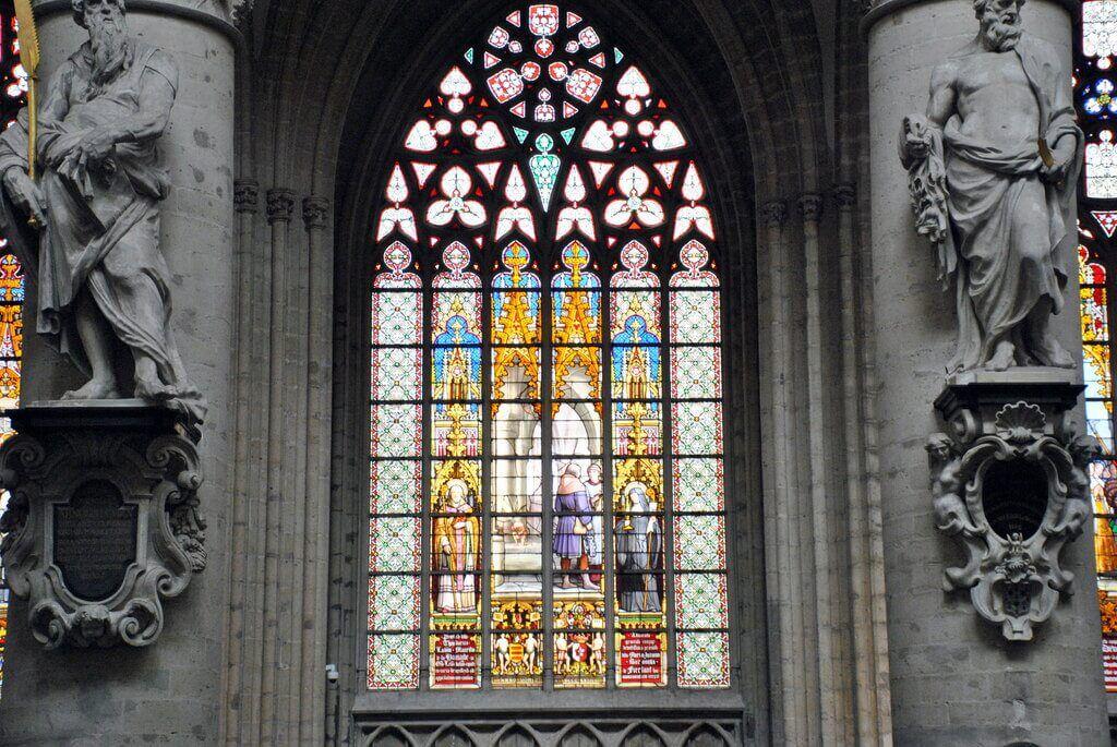 Vidrieras de la catedral de Bruselas