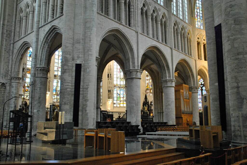 Interior catedral de Bruselas