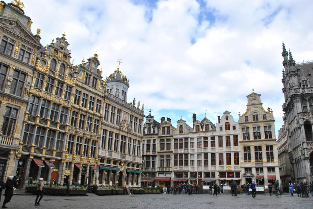 Preciosos edificios de la Grand Place
