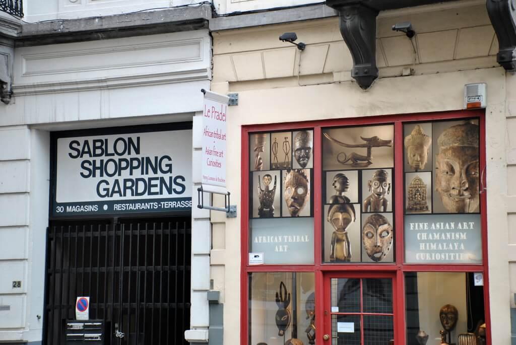 Tienda de antigüedades en Les Marolles