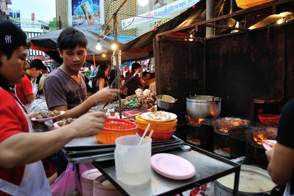 Puesto callejero en Chinatown