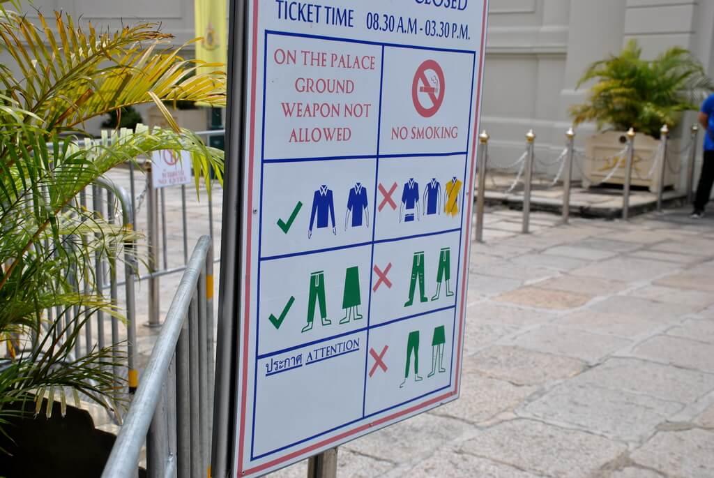 Normas de acceso al Gran Palacio