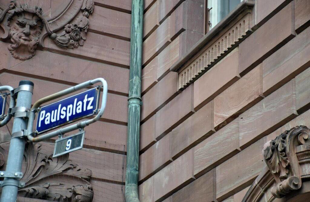 Cartel indicativo de Paulsplatz