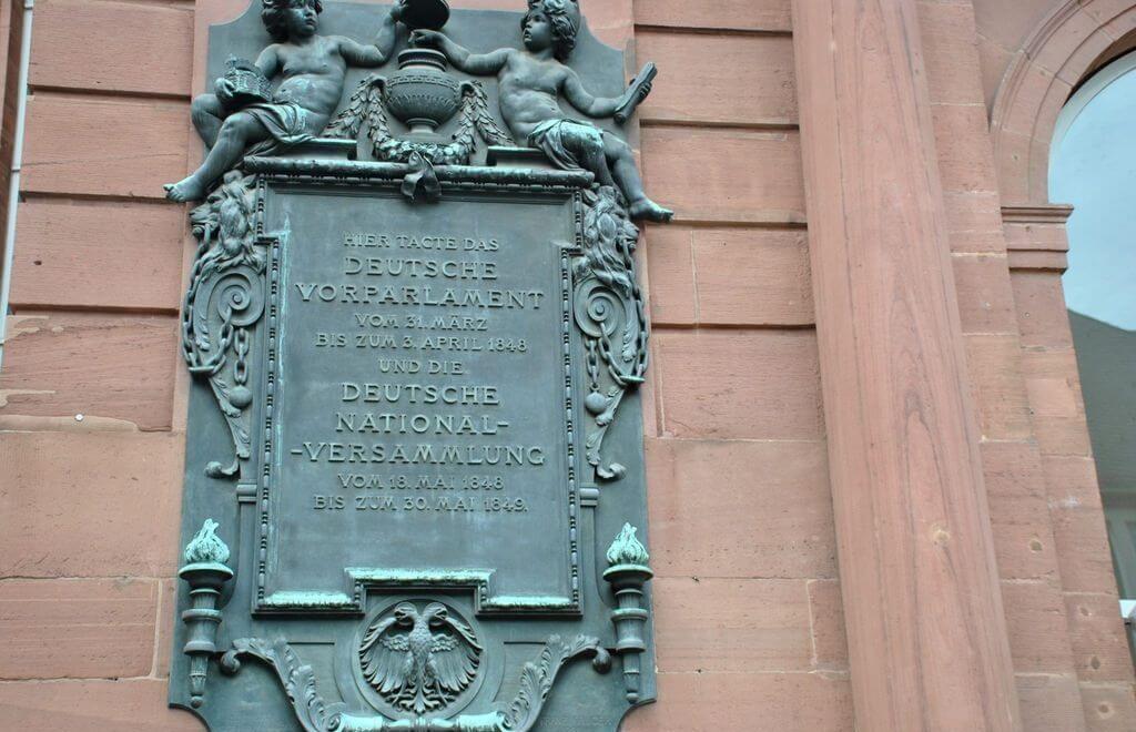 Placa conmemorativa Primer Parlamento alemán