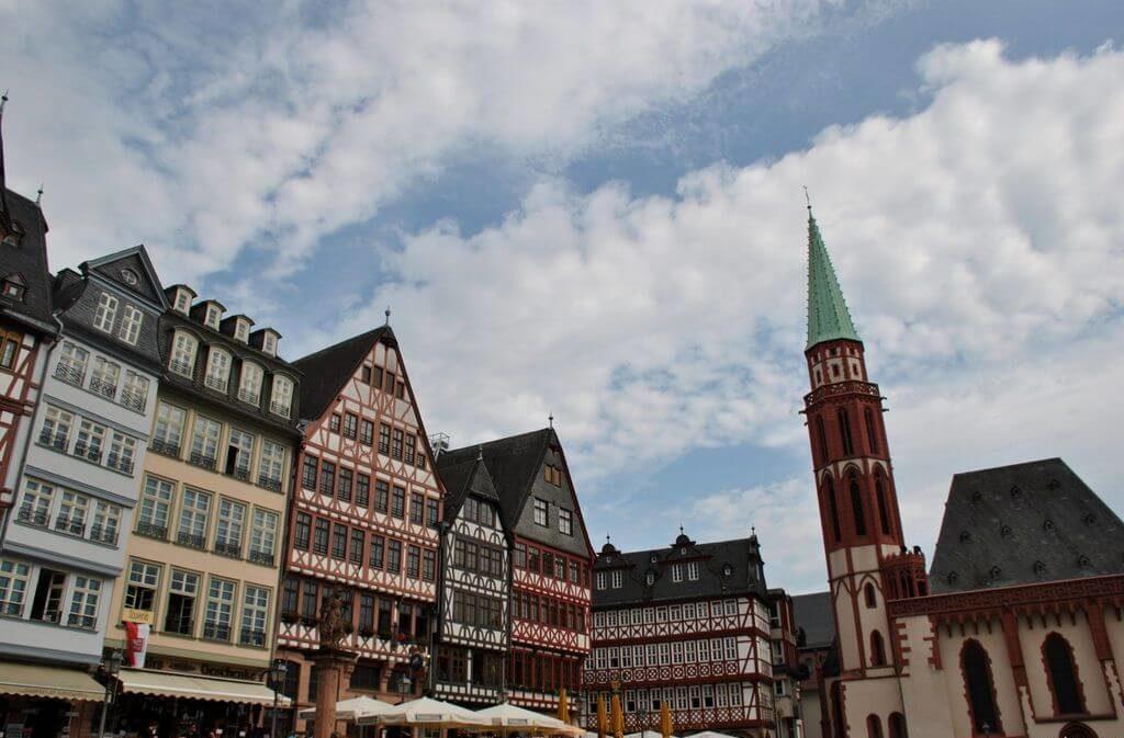 Panorámica de la plaza Römerberg, Frankfurt