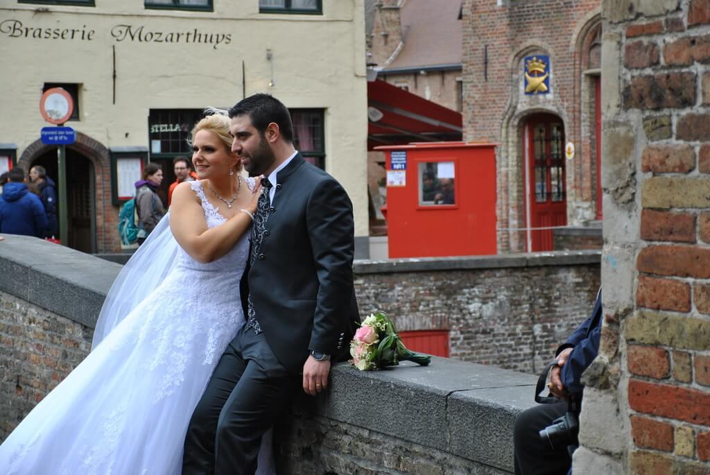 Reportaje de boda junto al Callejón del asno ciego