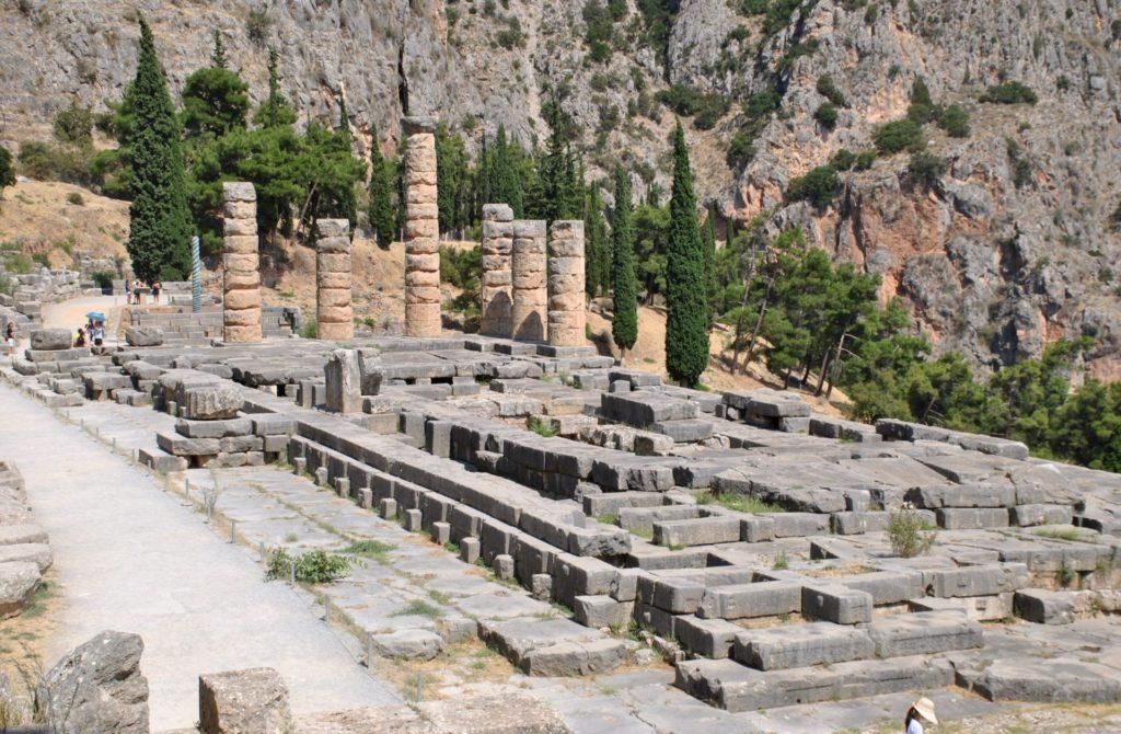 Panorámica del Templo de Apolo desde el teatro