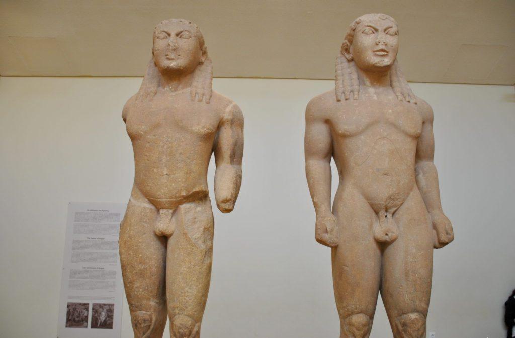 Esculturas encontradas en el sitio arqueológico