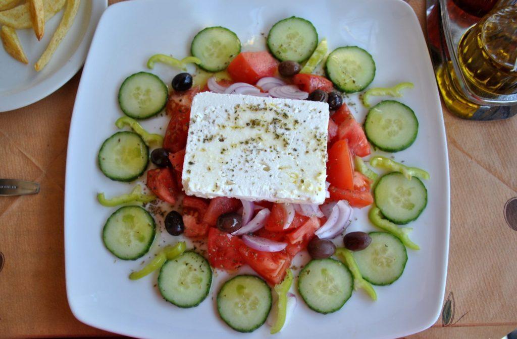 Ensalada griega en Arajova