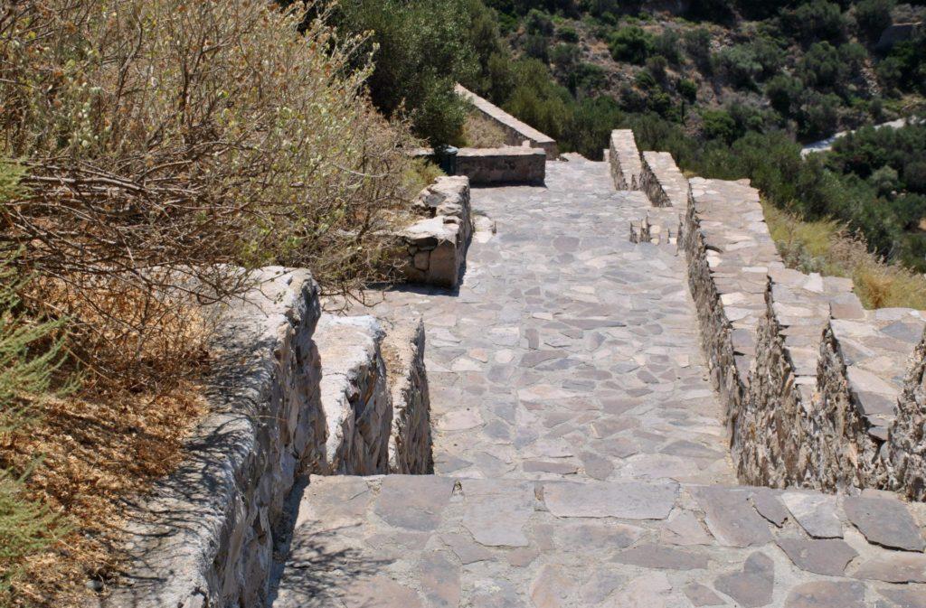 Escaleras de acceso a las catacumbas