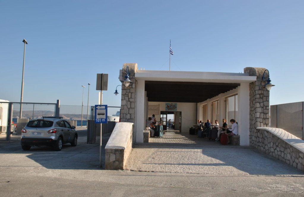 Sala de espera del puerto