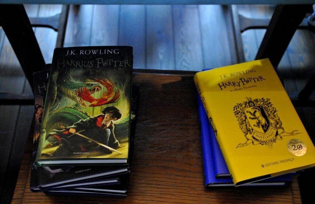 Libros de Harry Potter en la librería
