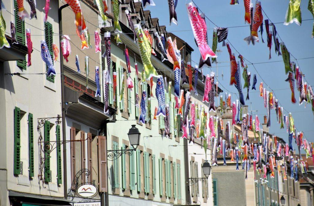 Calles decoradas en Le Carouge