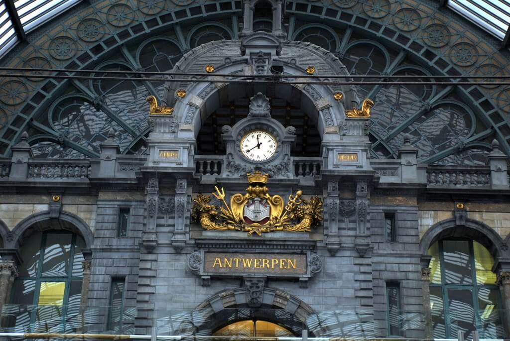 Interior de la Estación Central de Amberes