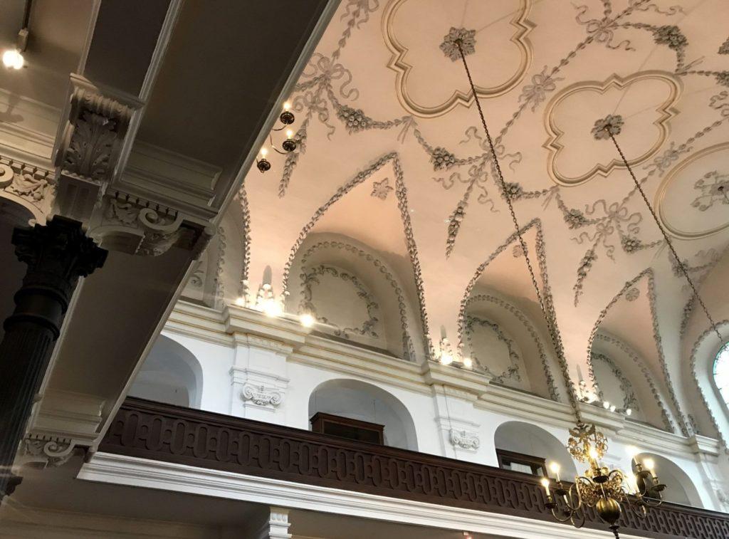 Techo espectacular de la Sinagoga Klaus
