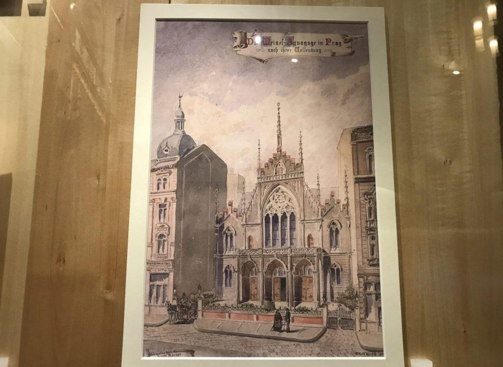 Lámina antigua de la sinagoga
