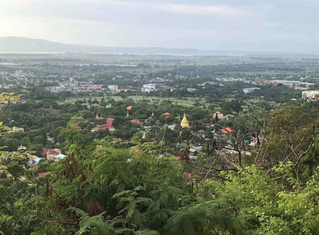 Vistas de Mandalay desde la cima