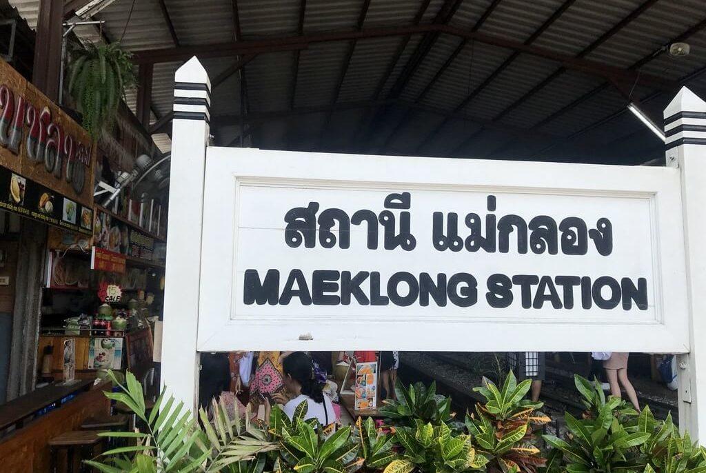 mae klong el mercado de las vías del tren