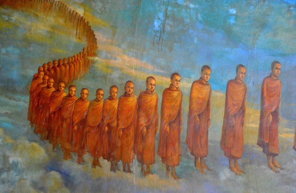 Mural en Maha Wizaya Pagoda