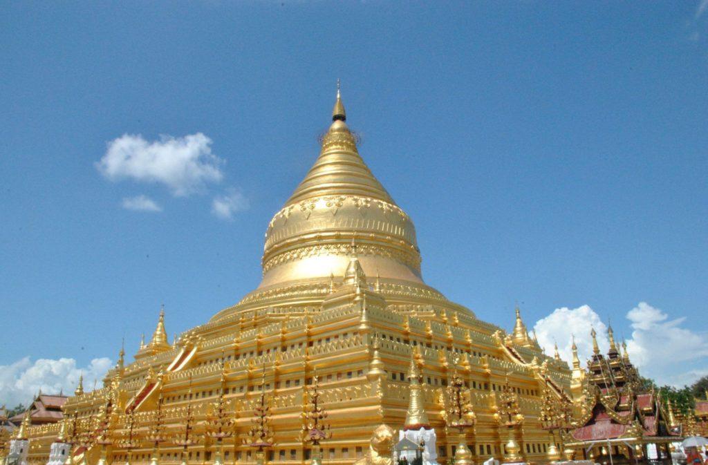 Estupa central de la Shwezigon Pagoda