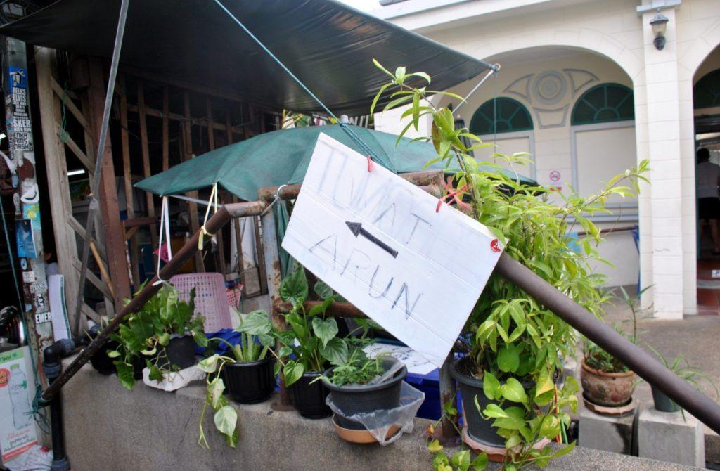 Indicaciones para llegar al embarcadero de Tha Tien