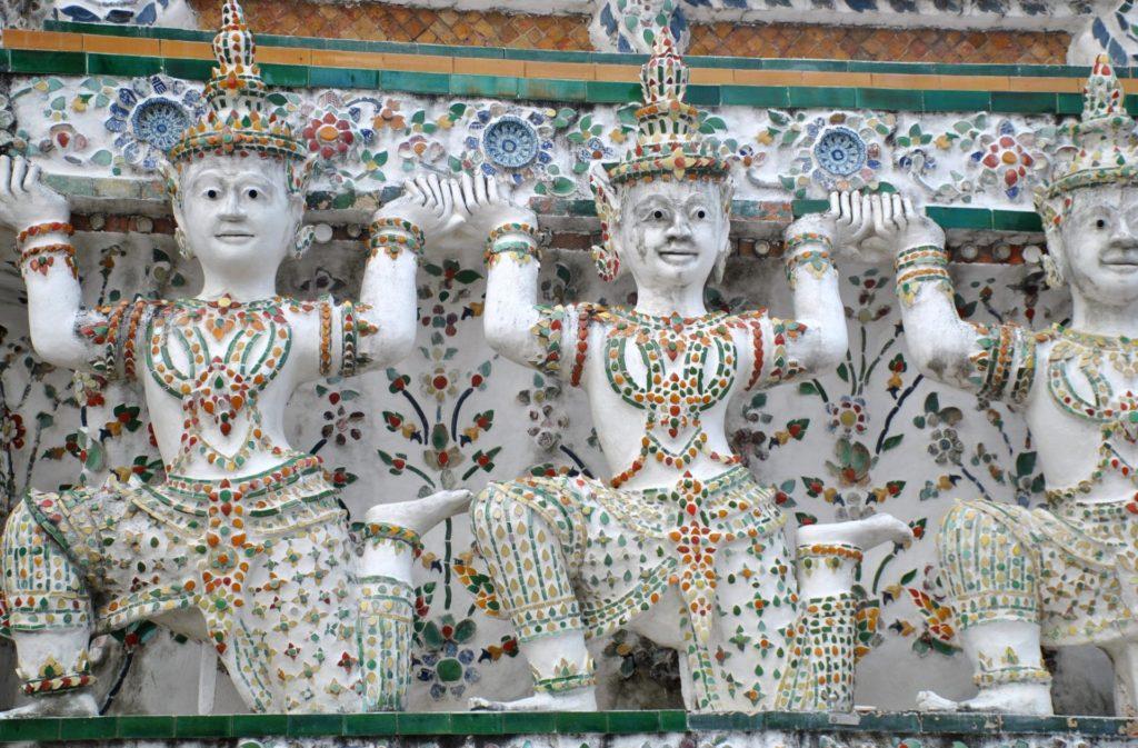 Detalle de la decoración del templo Wat Arun