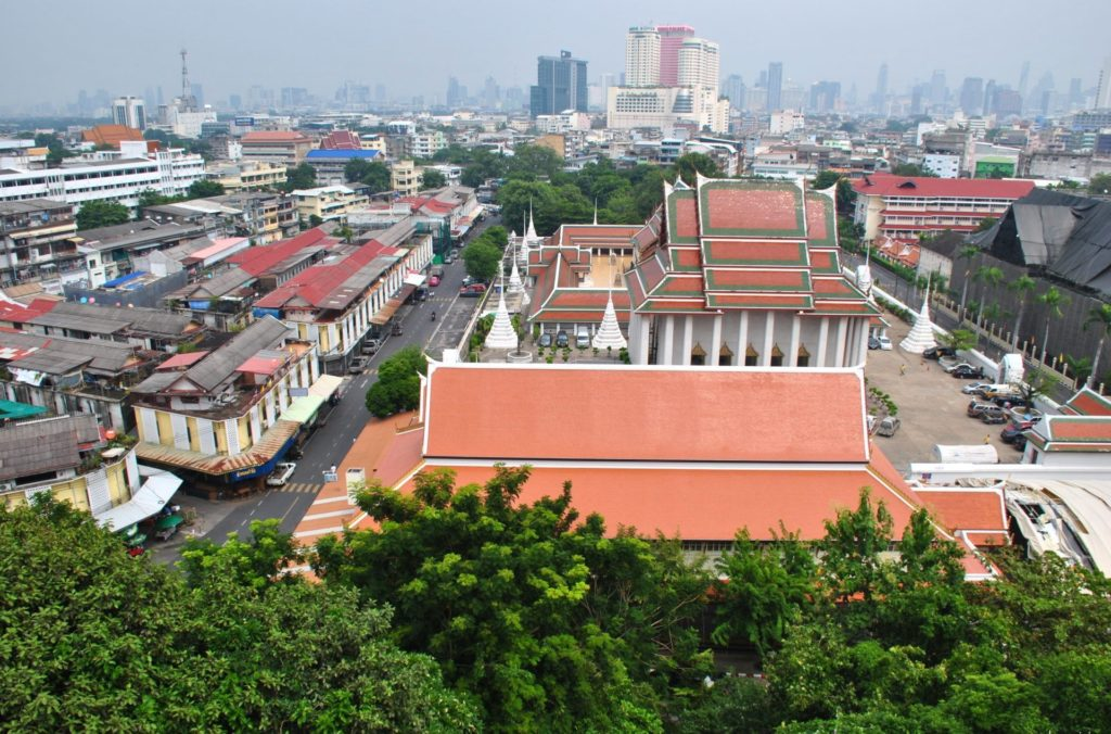 Bangkok desde el Wat Saket