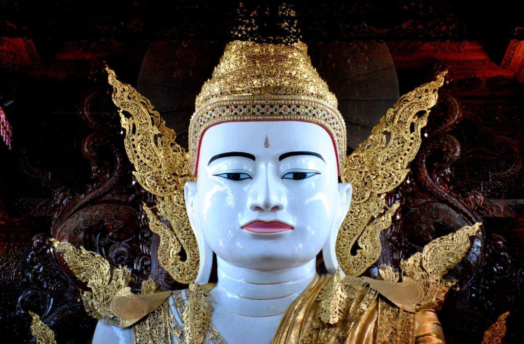 Rostro del Buda sentado de Ngahtatgyi