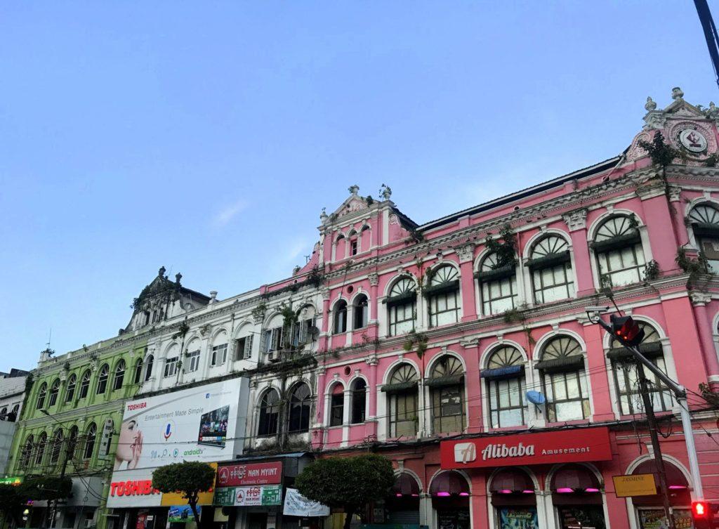 Arquitectura colonial en Yangon