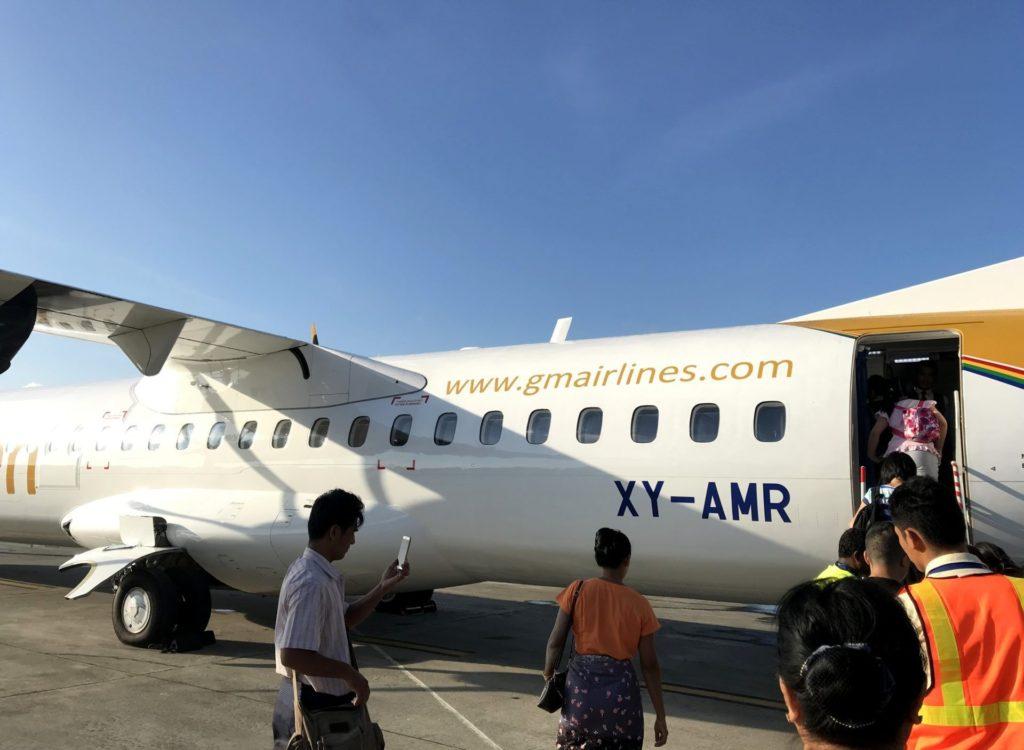 Avión de Golden Myanmar Airlines