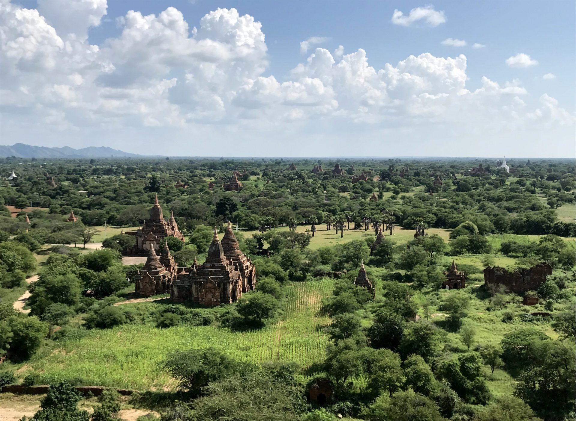 Templos de Bagan desde la torre