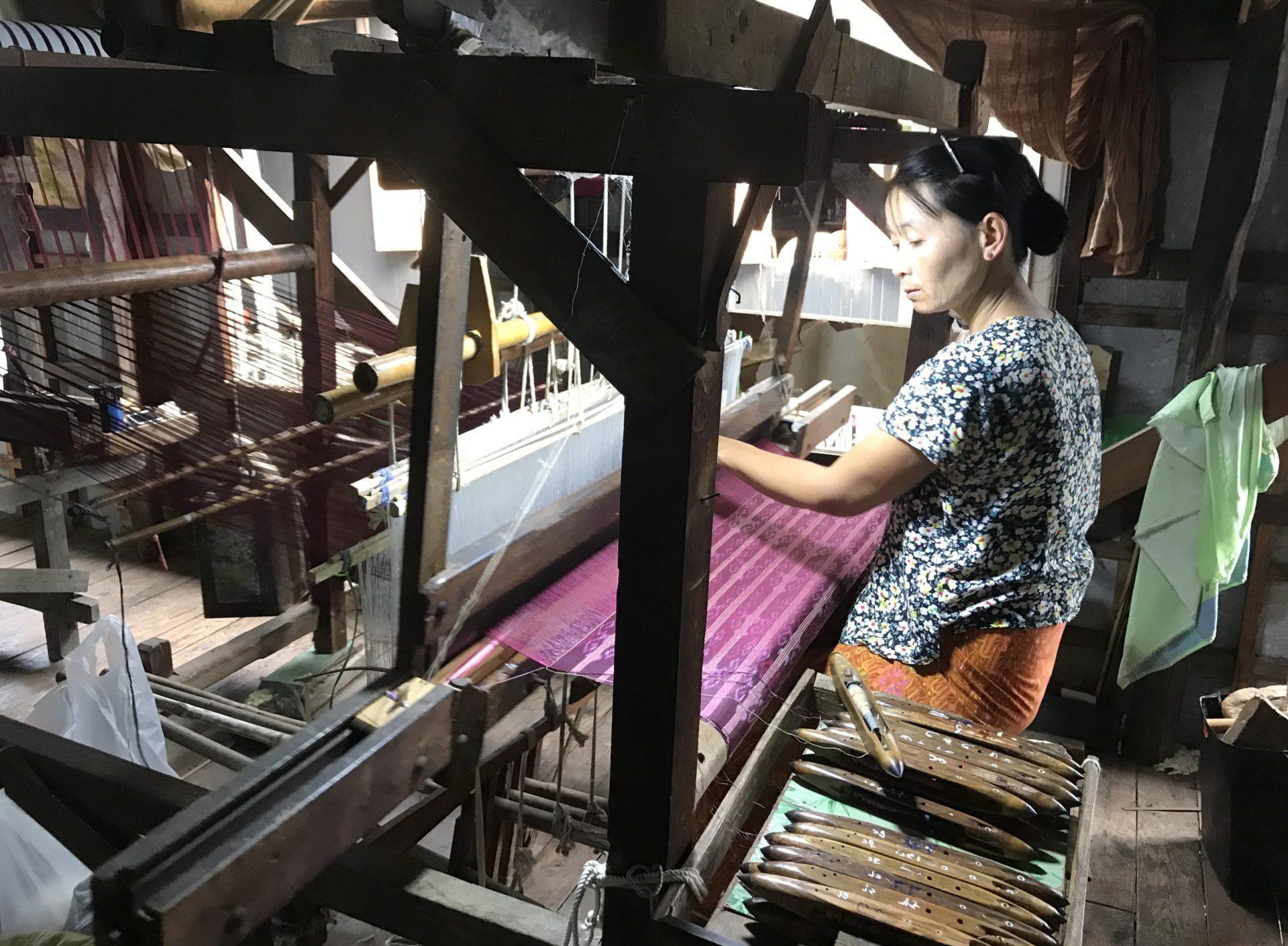Trabajando la seda