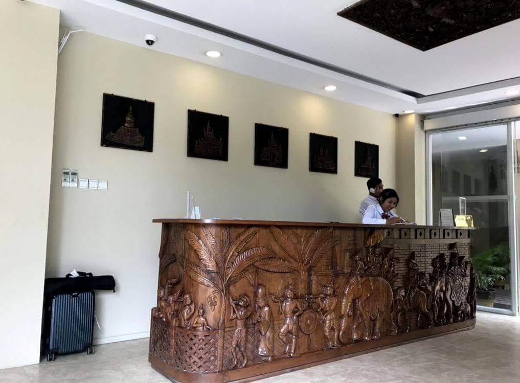 Recepción del Royal bagan hotel