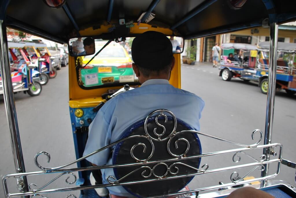 tuk tuk en Bangkok