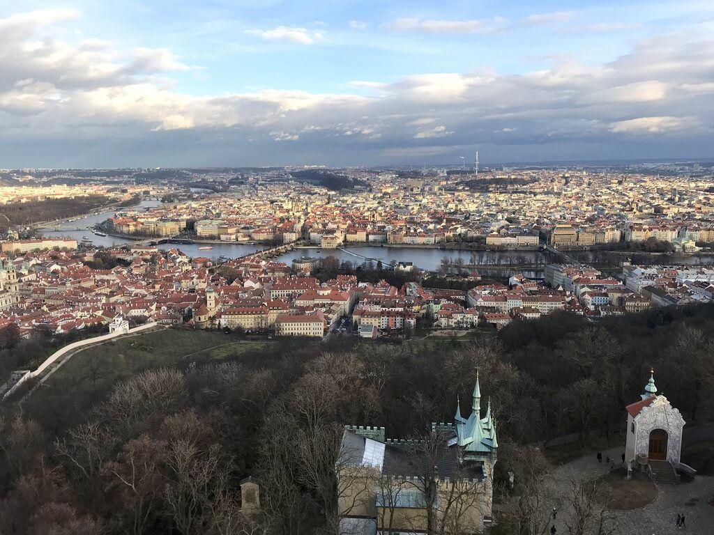 Vistas de Praga desde la Torre Petrín