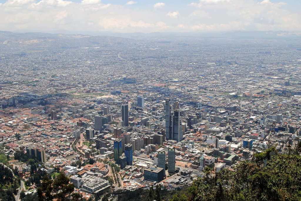 Bogotá desde el Cerro de Monserrate