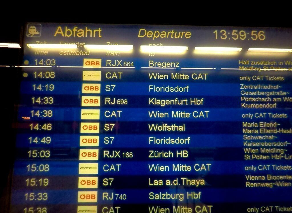 Esperando el tren S7
