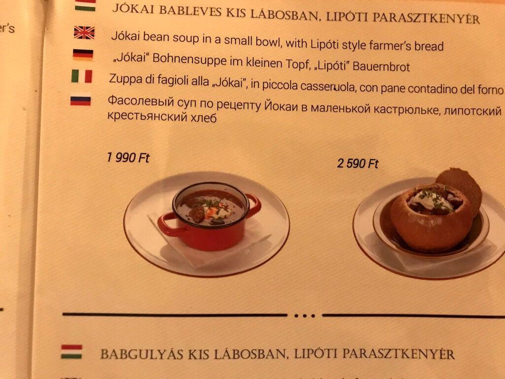 dónde probar comida típica húngara en Budapest
