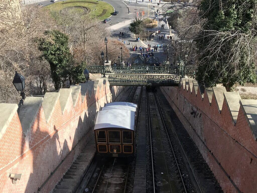 Subida en el funicular