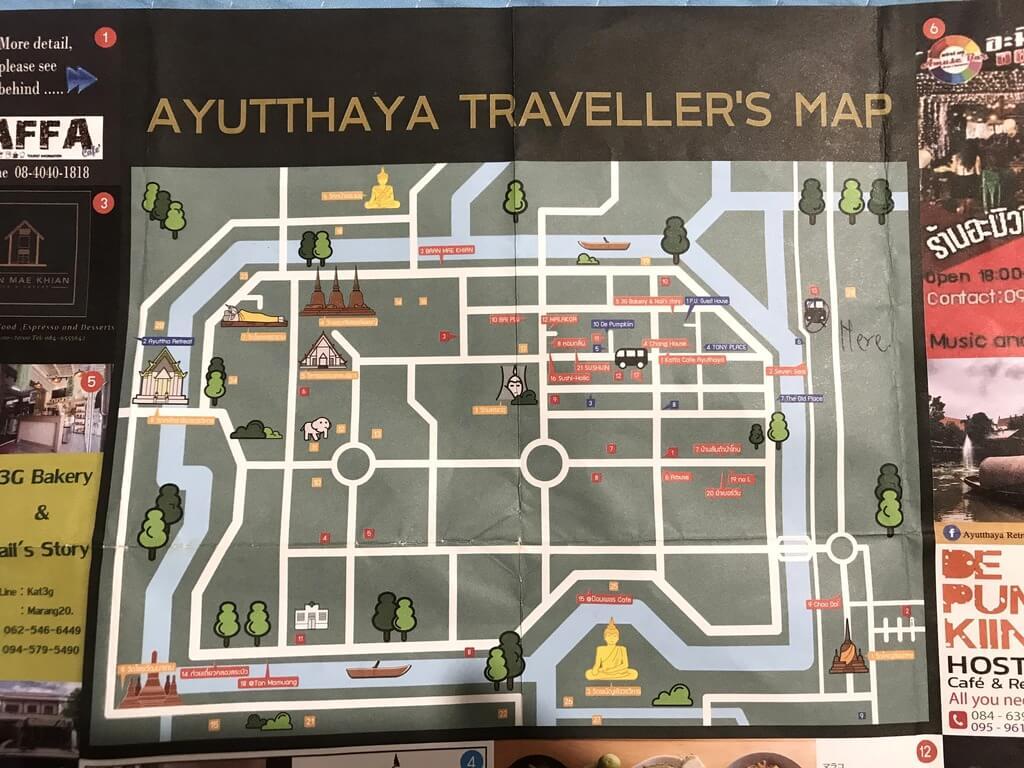 Plano de Ayutthaya reino de siam
