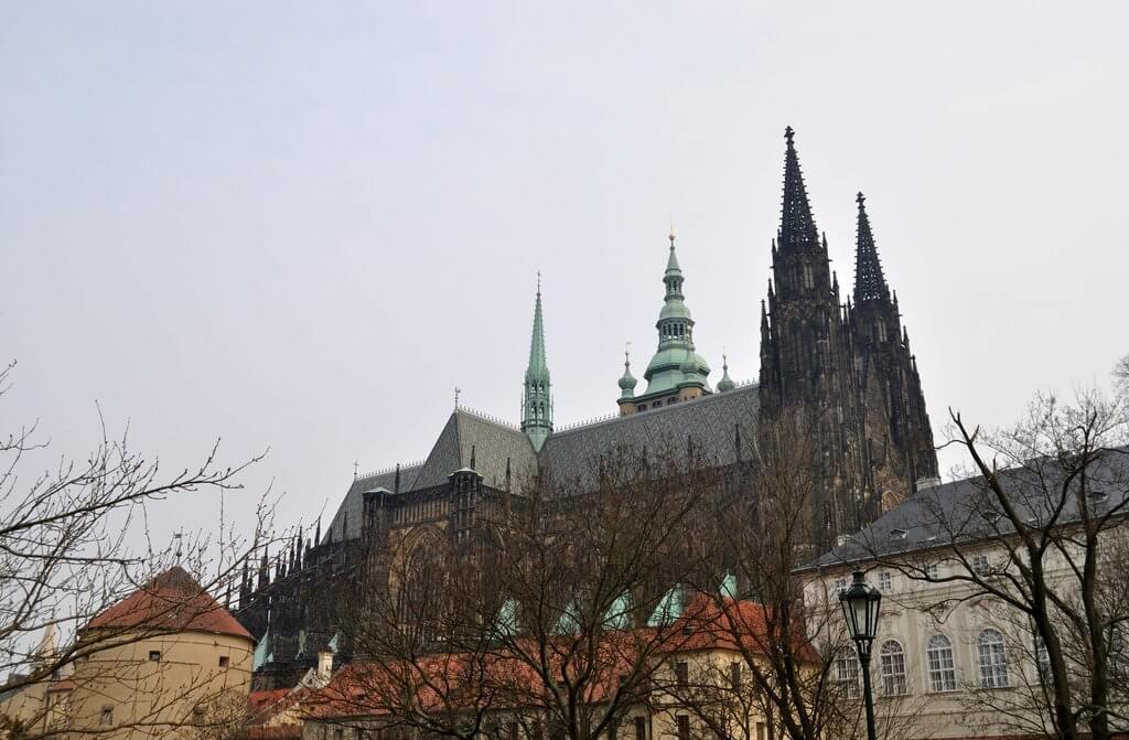 Castillo de Praga desde el exterior