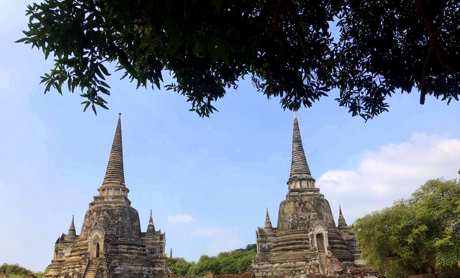 Estupas del Wat Phra Si Sanphet