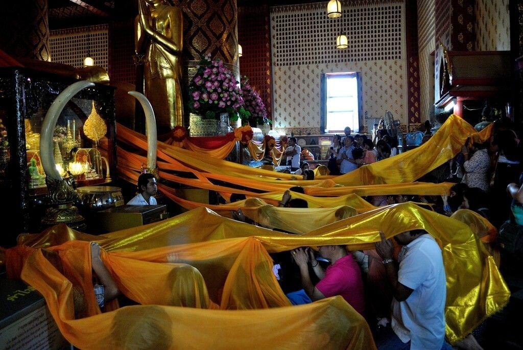 Ceremonia religiosa dentro del wihan
