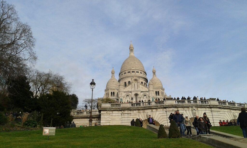 Subiendo a la Basílica del Sacré-Coeur