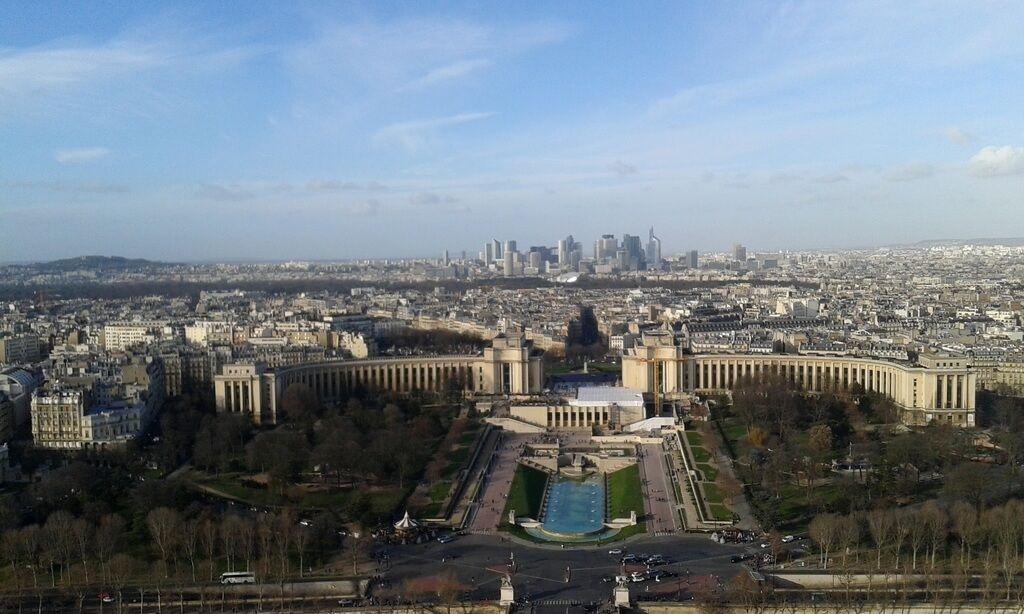 Jardines de Trocadero desde la Tour Eiffel