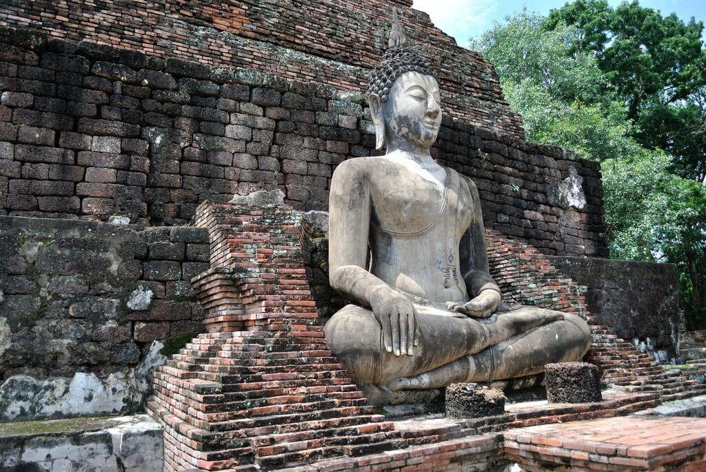 Buda sentado en Wat Traphang Thong
